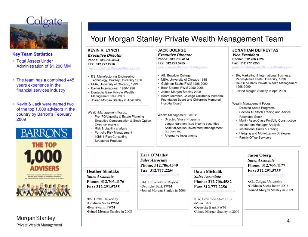 PPT - Morgan Stanley Private Wealth Management PowerPoint