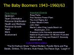 the baby boomers 1943 1960 63