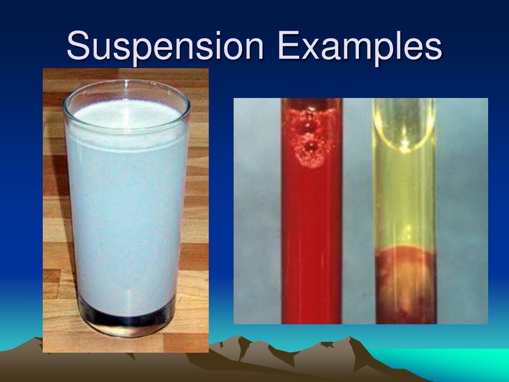Suspension Examples