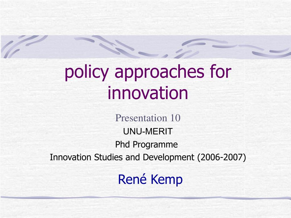 policy approaches for innovation l.