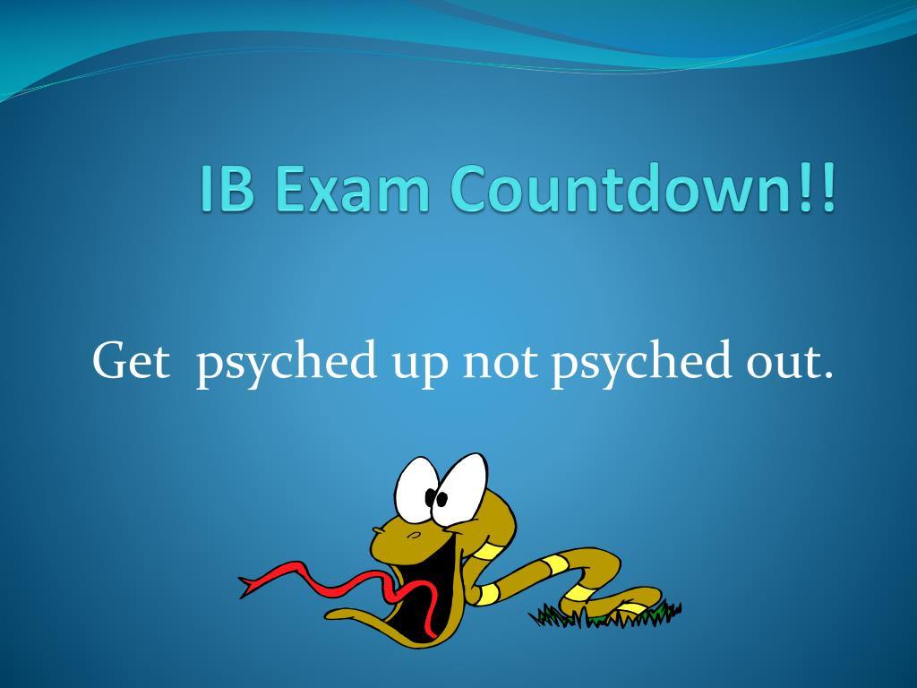 ib exam countdown l.