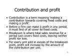 contribution and profit