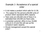 example 1 acceptance of a special order