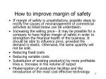 how to improve margin of safety
