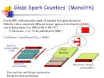 glass spark counters monolith