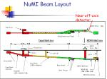 numi beam layout