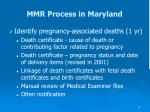 mmr process in maryland