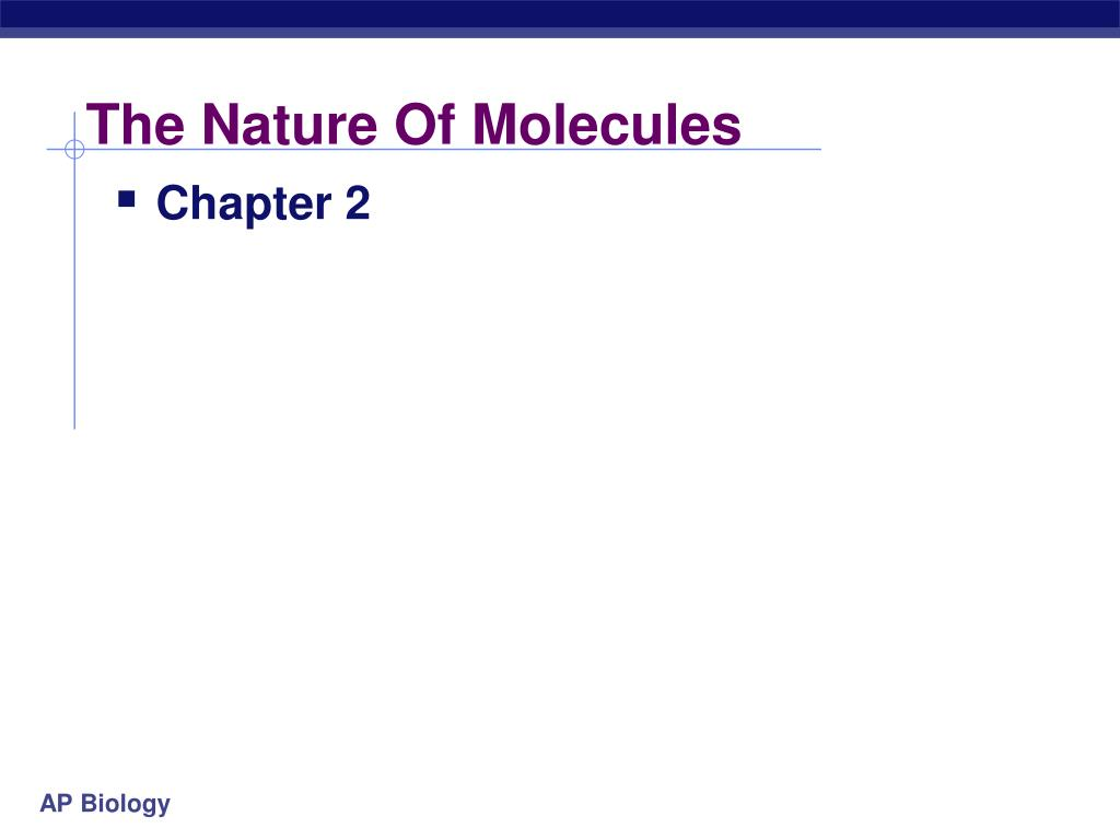 the nature of molecules l.