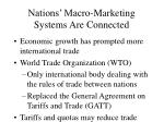 nations macro marketing systems are connected