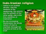 indo iranian religion