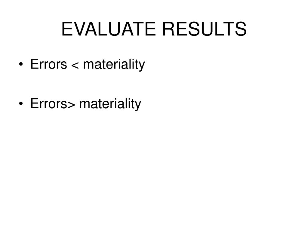 EVALUATE RESULTS