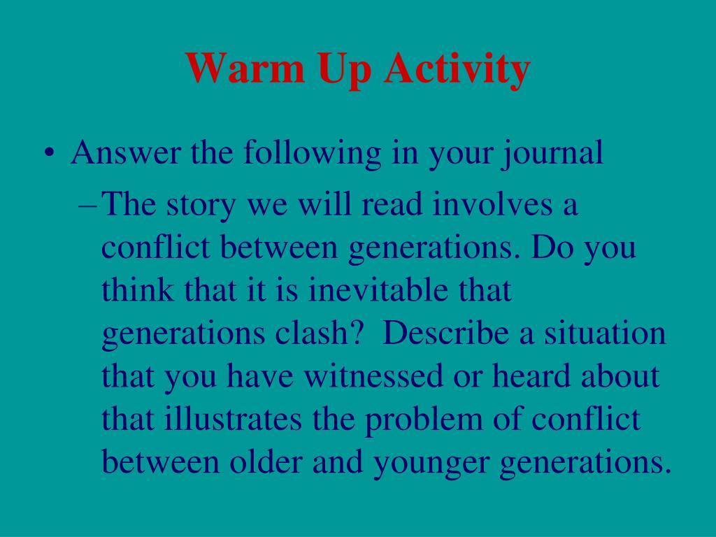 warm up activity l.