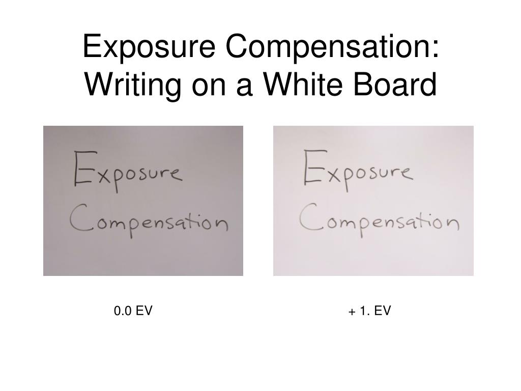 Exposure Compensation: