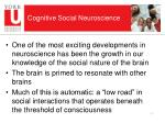 cognitive social neuroscience