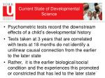 current state of developmental science