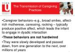 the transmission of caregiving practices