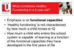 what constitutes healthy functioning in a 6 year old