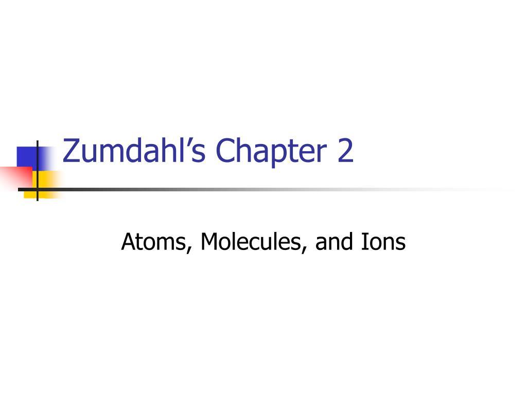 zumdahl s chapter 2 l.