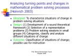 analyzing turning points and changes in mathematical problem solving processes heinrich 2003