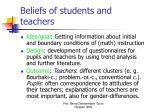 beliefs of students and teachers