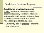conditioned emotional response