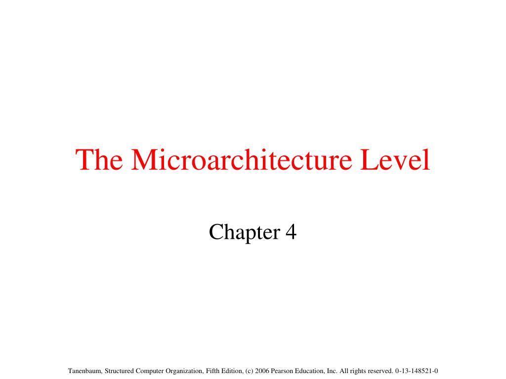 the microarchitecture level l.