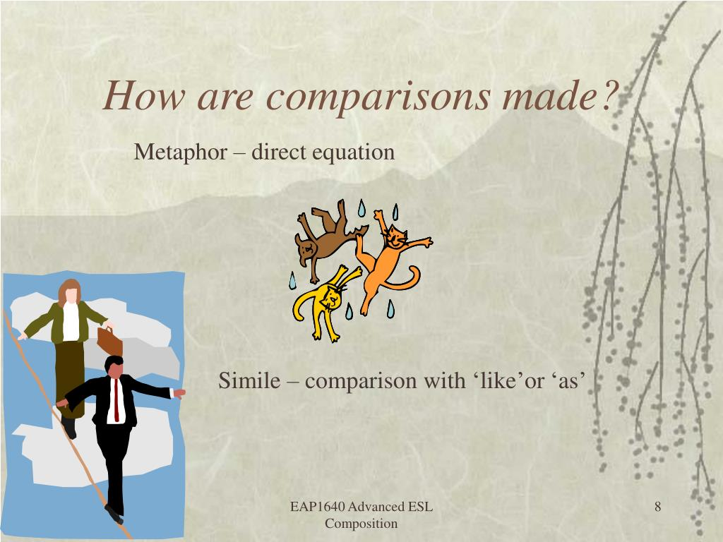 How are comparisons made?