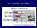 22 educaci n y matrimonio