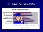 7 nivel de educaci n