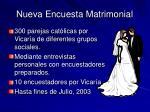 nueva encuesta matrimonial