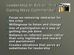 leadership in action the caring navy commander
