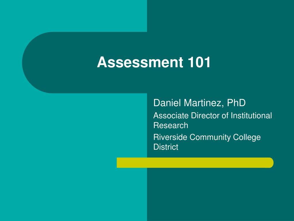 assessment 101 l.
