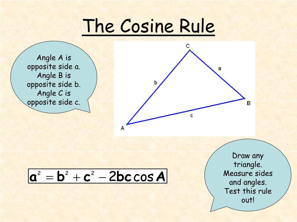 the cosine rule l.