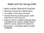 math and the young child