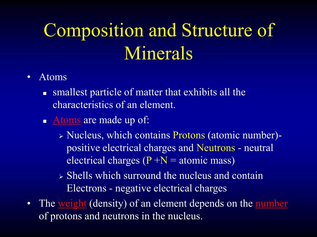 Composition and Structure of Minerals