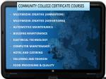 community college certificate courses