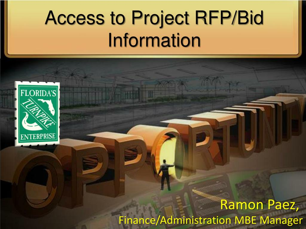 access to project rfp bid information l.