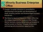 minority business enterprise office