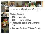 june is seniors month