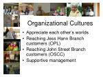 organizational cultures20