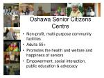 oshawa senior citizens centre