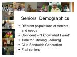 seniors demographics