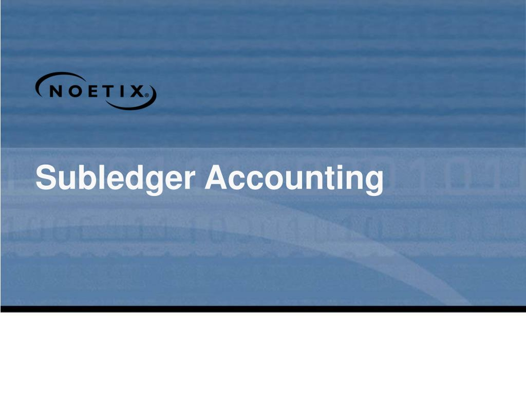 Subledger Accounting