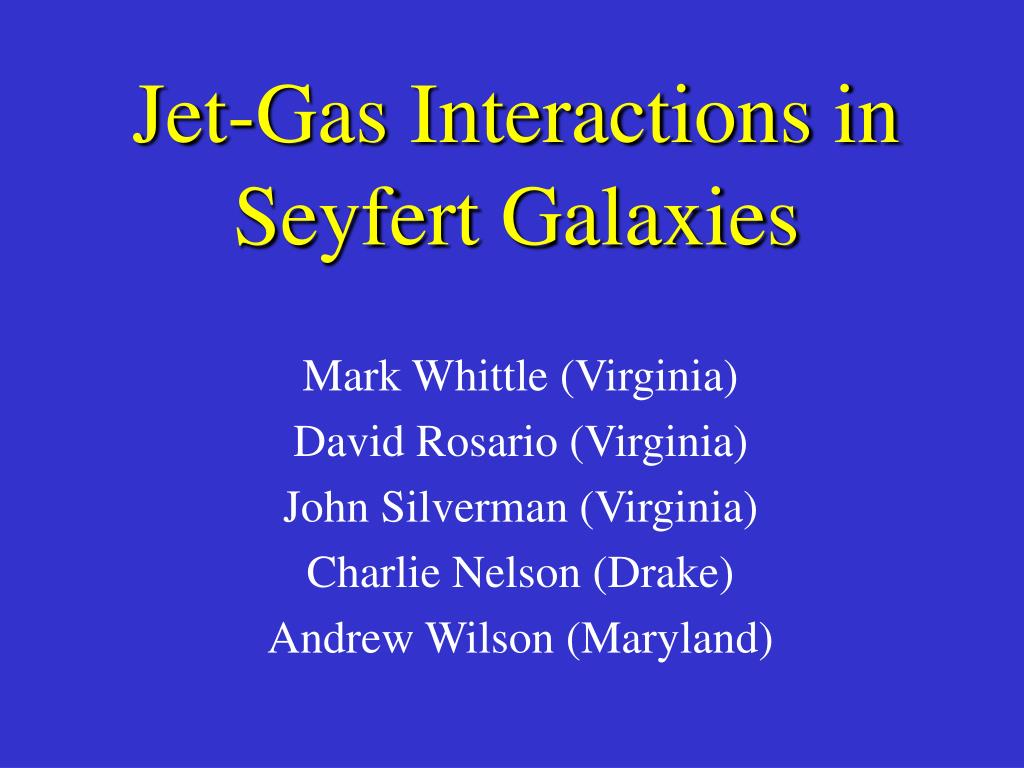 jet gas interactions in seyfert galaxies l.