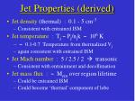 jet properties derived50