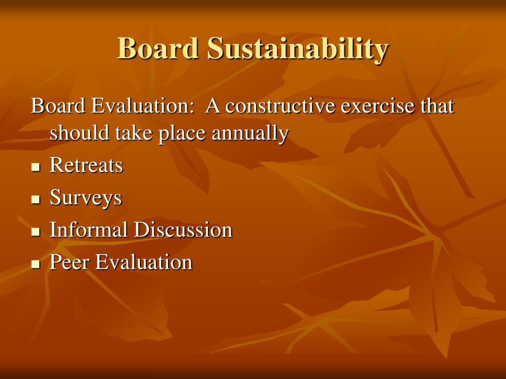 Board Sustainability