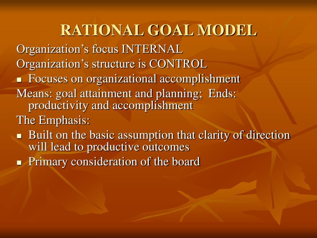 RATIONAL GOAL MODEL