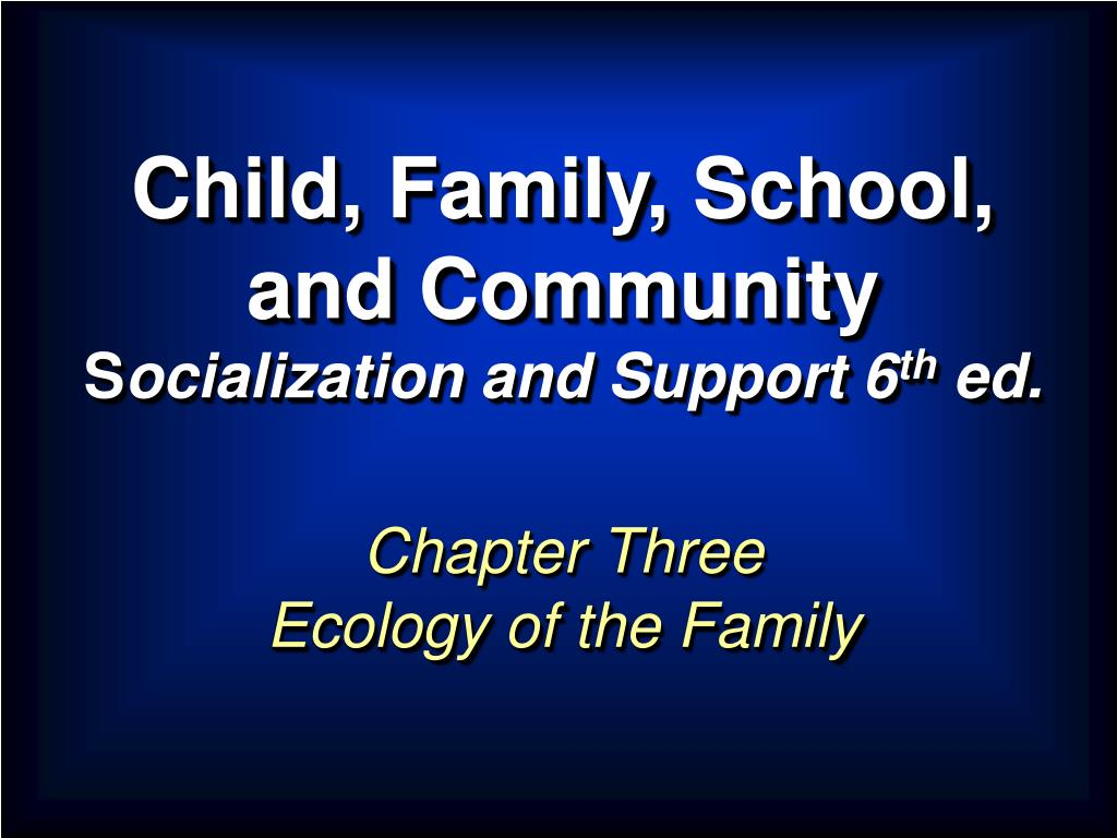 child family school and community s ocialization and support 6 th ed l.