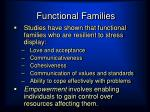 functional families