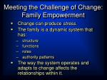 meeting the challenge of change family empowerment